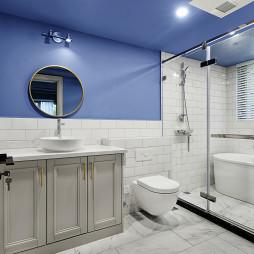 现代美式415平卫浴设计