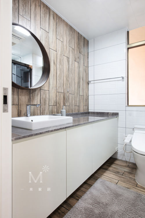 【一米家居】十三步走完的家90㎡质朴自然风卫生间洗漱台