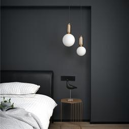 经典黑白灰卧室设计图