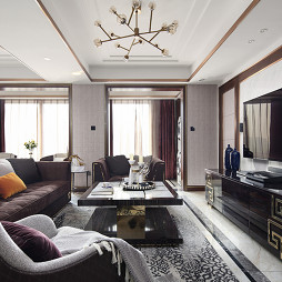 现代 三居客厅设计图