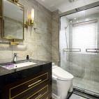 现代 三居卫浴设计实景图