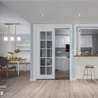 浅蓝系美式厨房设计图片
