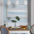 浅蓝系美式餐厅吊灯设计