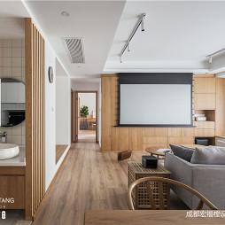 日式混搭客厅背景墙设计图