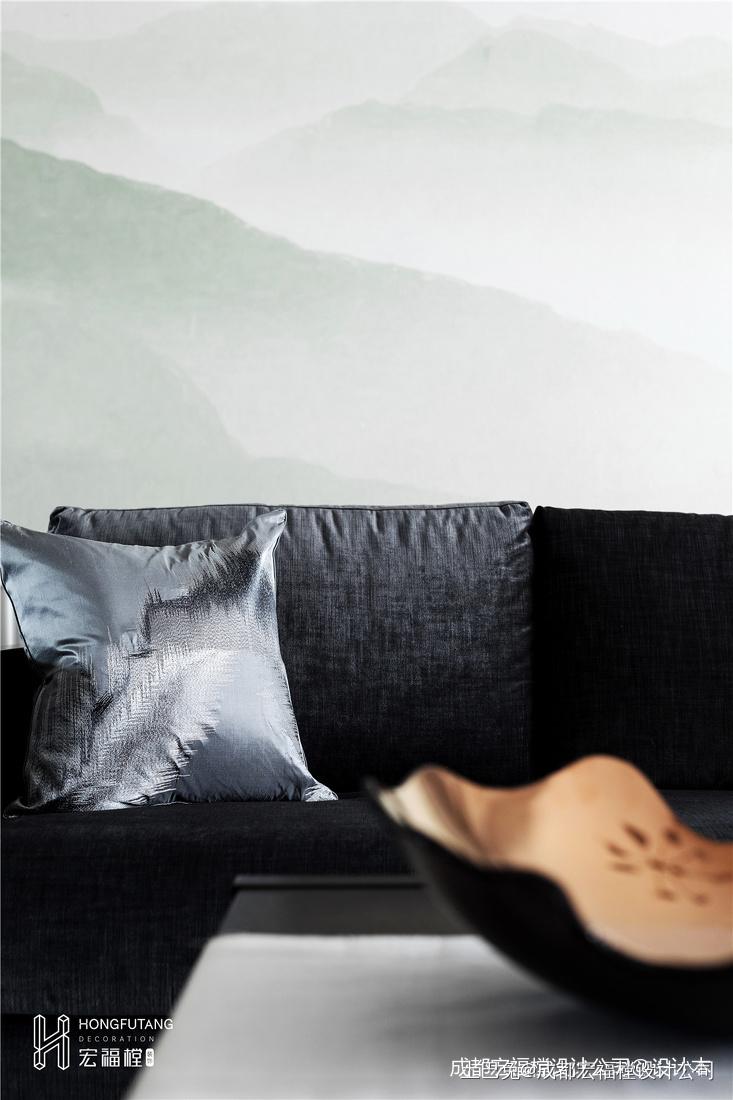 质朴129平中式三居客厅案例图客厅中式现代客厅设计图片赏析