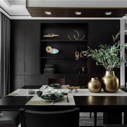 简洁中式餐厅储物柜设计