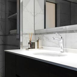 简洁中式卫浴洗手台设计