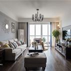 美式银灰色客厅背景画图