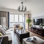 美式银灰色客厅设计图