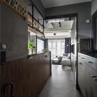 现代灰色系玄关设计图