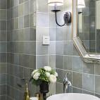 精装美式三居卫浴洗手台设计