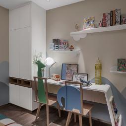 君胜熙珑山C1样板间儿童房书桌设计