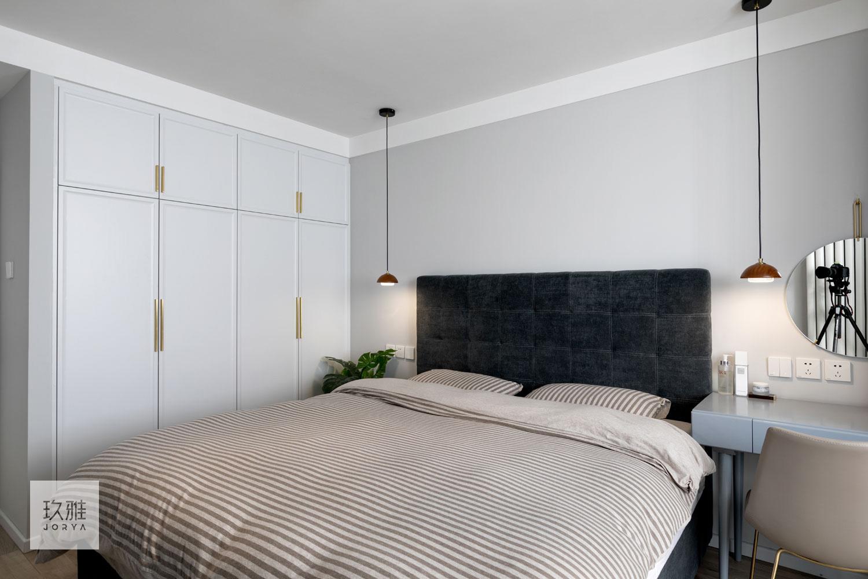 简洁39平北欧小户型卧室装潢图卧室北欧极简卧室设计图片赏析