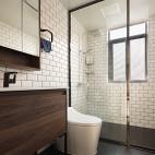 黑白干湿分离卫浴设计