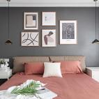 92㎡现代北欧卧室吊灯设计