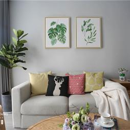 淡蓝北欧风客厅沙发图片
