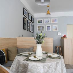 淡蓝北欧风餐厅卡座设计
