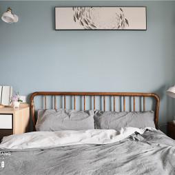 淡蓝北欧风卧室设计图