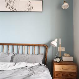 淡蓝北欧风卧室壁灯实景图