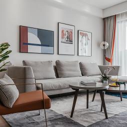 干净简约客厅沙发图片