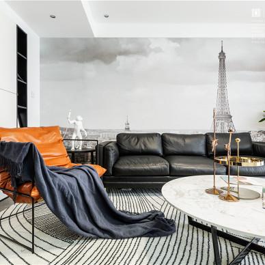 黑白调现代客厅沙发图片