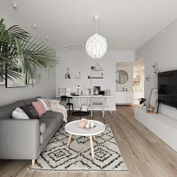 北欧小户型客厅吊灯图片