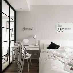 北欧小户型主卧室图片
