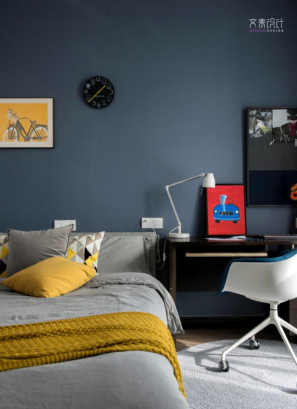 悠雅144平现代四居儿童房效果图欣赏卧室现代简约卧室设计图片赏析