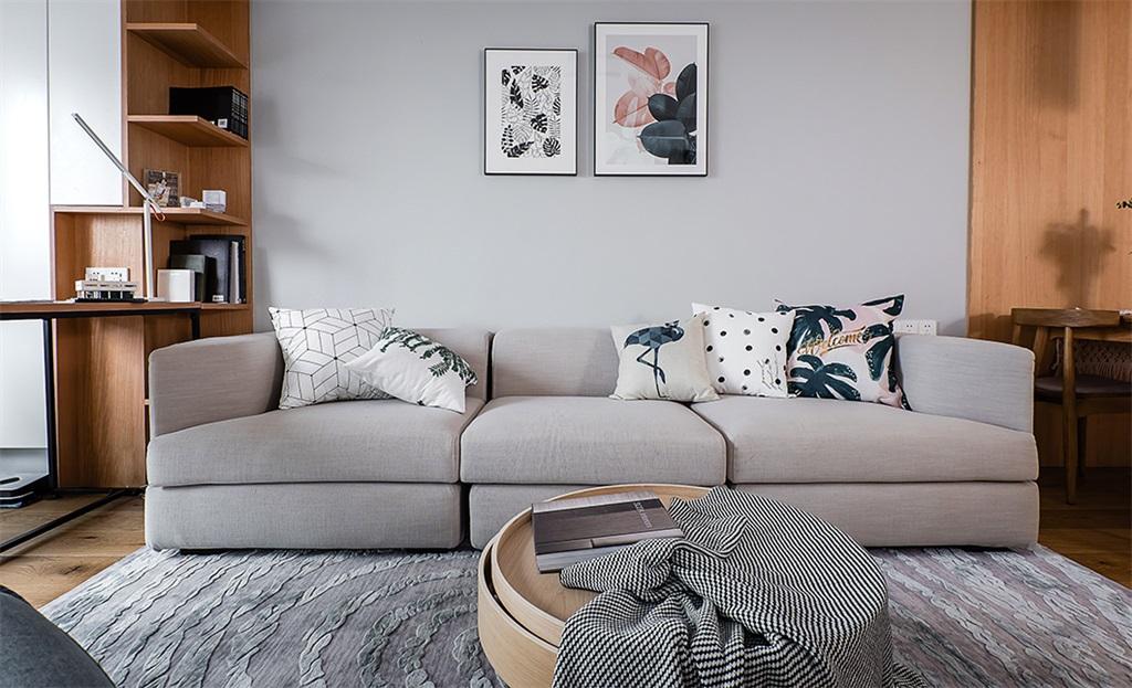 温馨125平简约三居客厅实拍图客厅现代简约客厅设计图片赏析