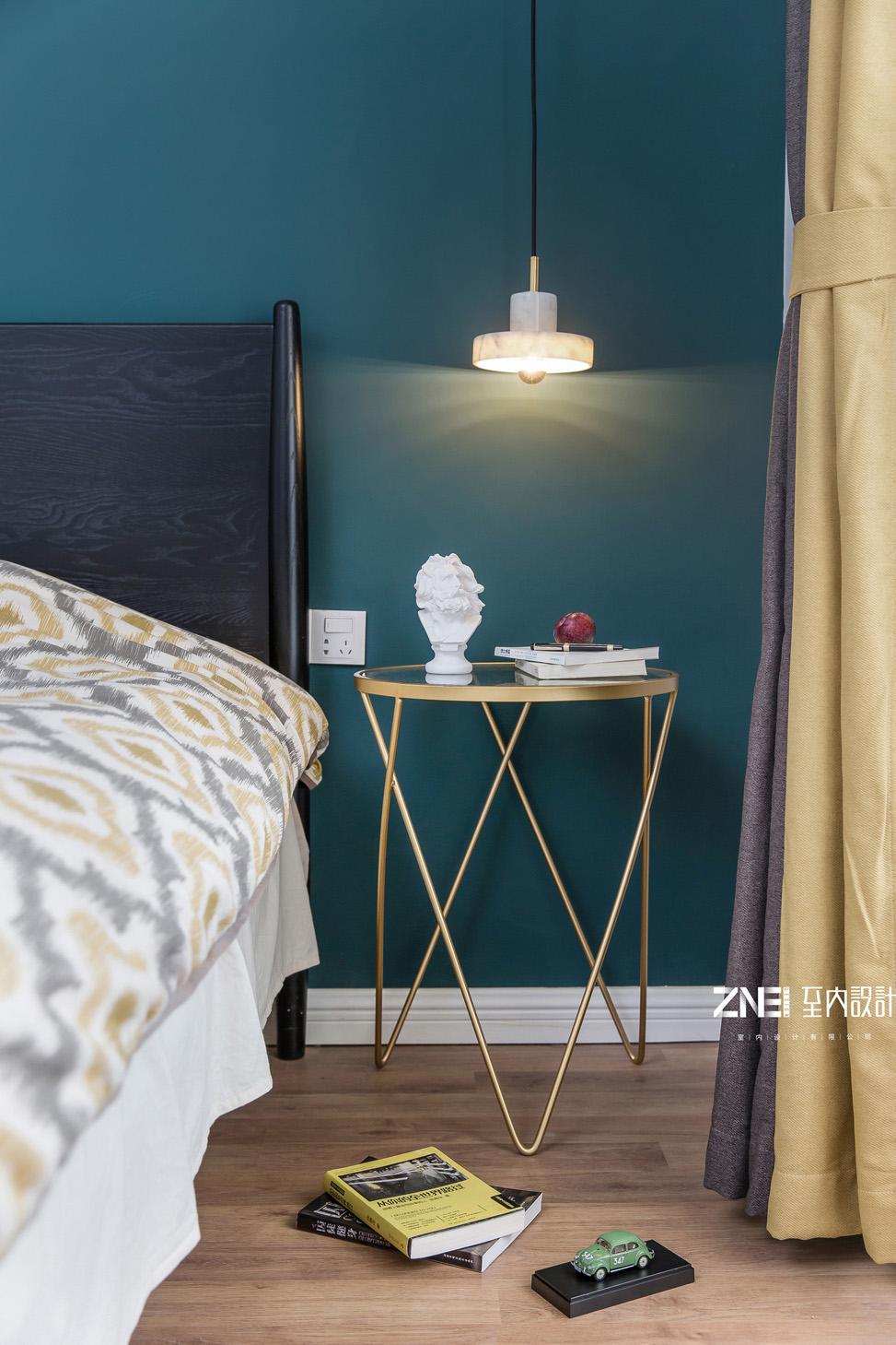 质朴125平混搭三居卧室设计案例卧室