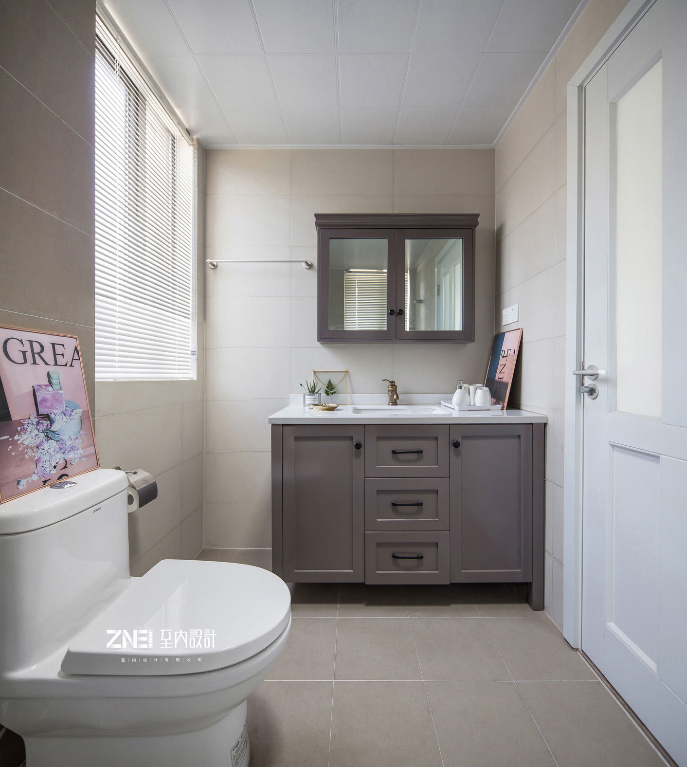 精致112平混搭三居卫生间设计案例卫生间