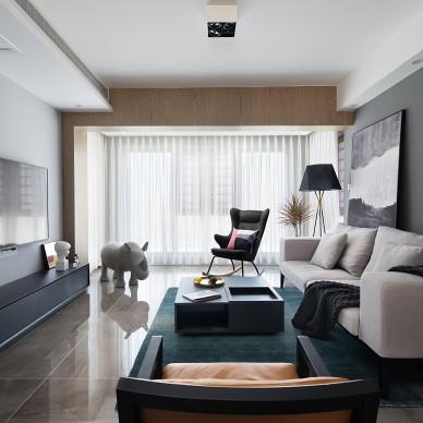 现代开放式客厅设计图