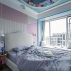 现代儿童房飘窗图