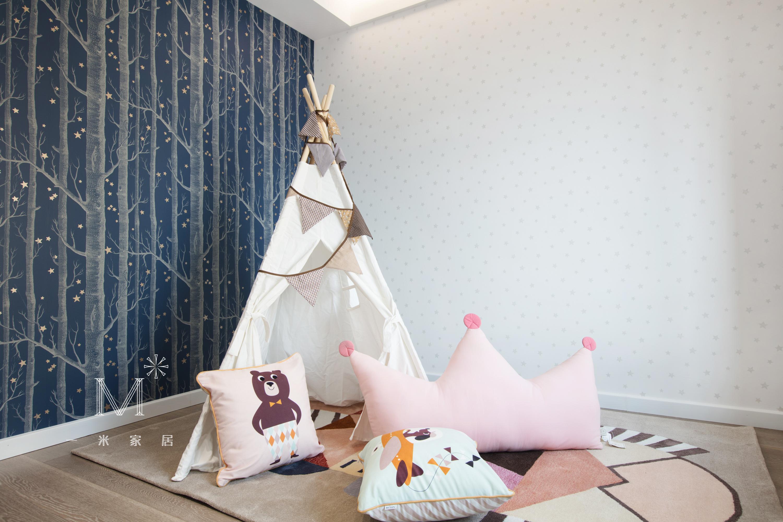 轻奢89平现代三居休闲区装修案例卧室现代简约卧室设计图片赏析