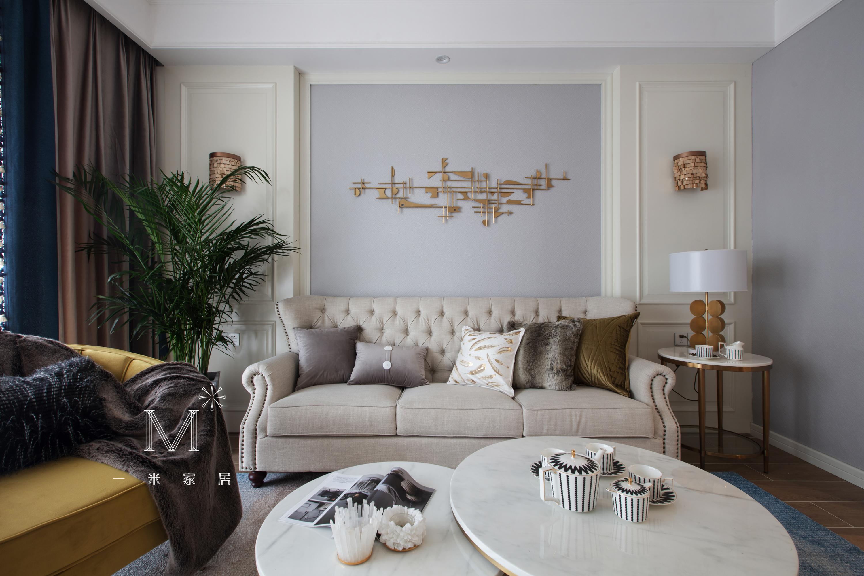 155㎡现代美式客厅沙发图片客厅现代简约客厅设计图片赏析