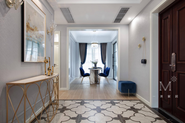 华丽87平现代三居玄关装修装饰图玄关瓷砖现代简约玄关设计图片赏析