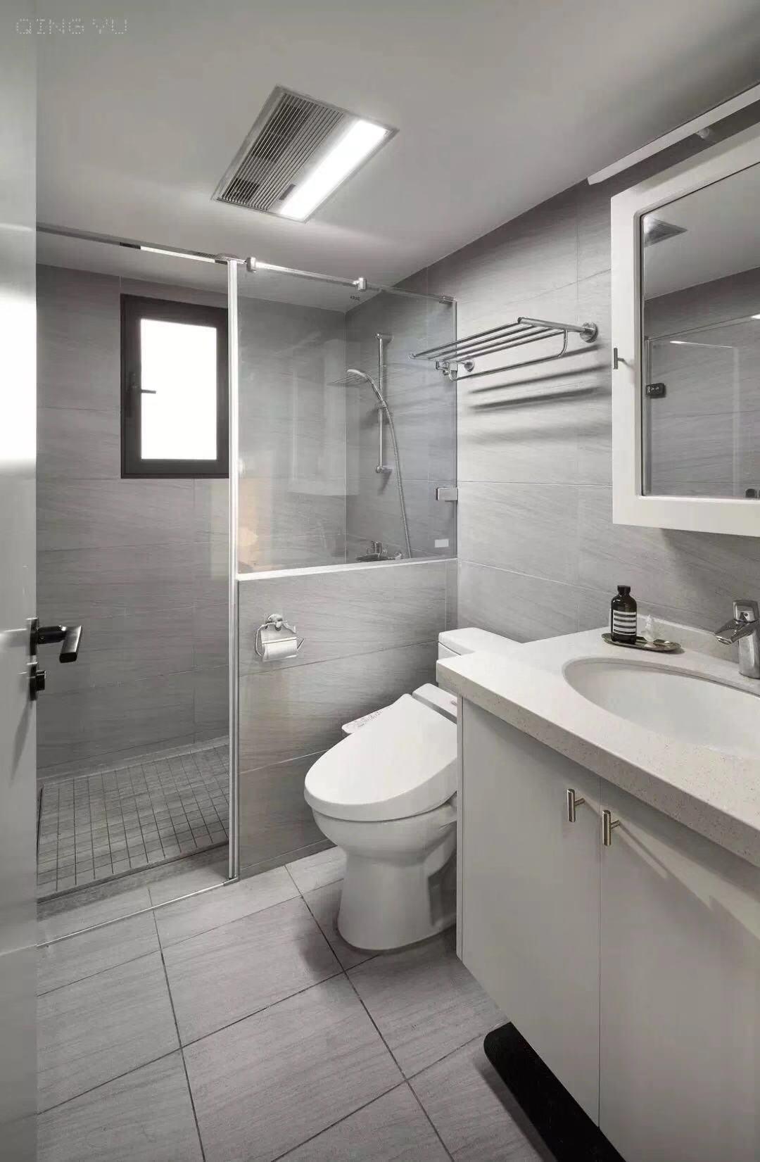 精致93平简约三居卫生间装修图卫生间现代简约卫生间设计图片赏析