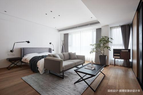 明亮51平现代复式卧室实景图片客厅窗帘