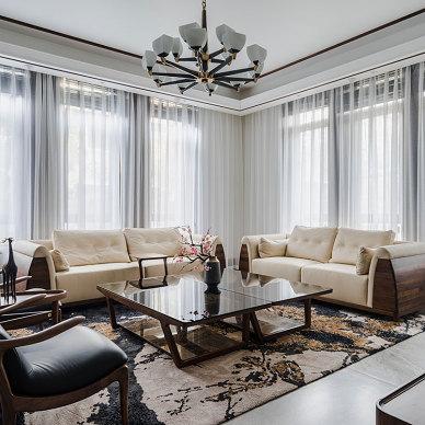中式别墅客厅设计实景图片
