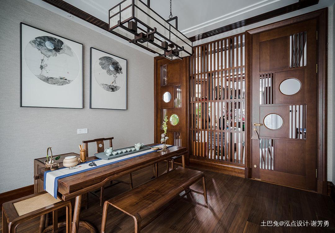 华丽513平中式别墅书房设计美图功能区中式现代功能区设计图片赏析
