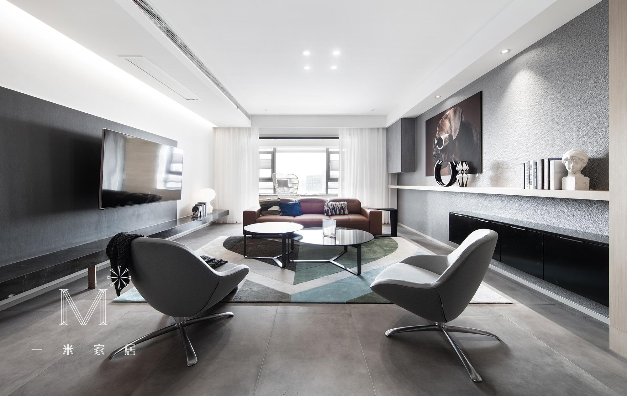 温馨295平简约四居布置图客厅现代简约客厅设计图片赏析