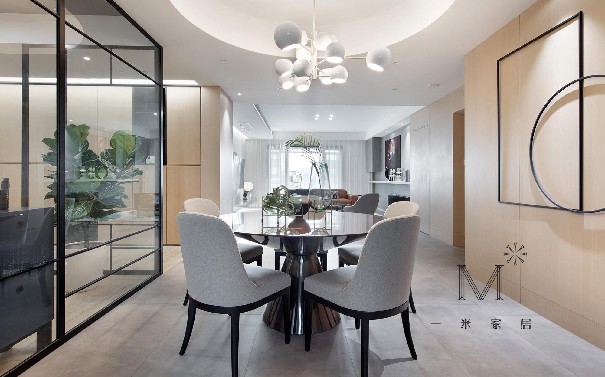 华丽144平简约四居餐厅装修图片厨房现代简约餐厅设计图片赏析