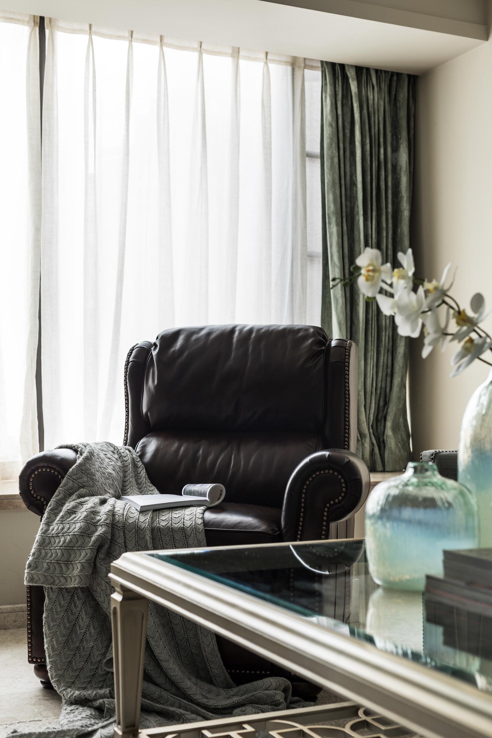 温馨124平简欧三居客厅装修图客厅窗帘2图北欧极简客厅设计图片赏析