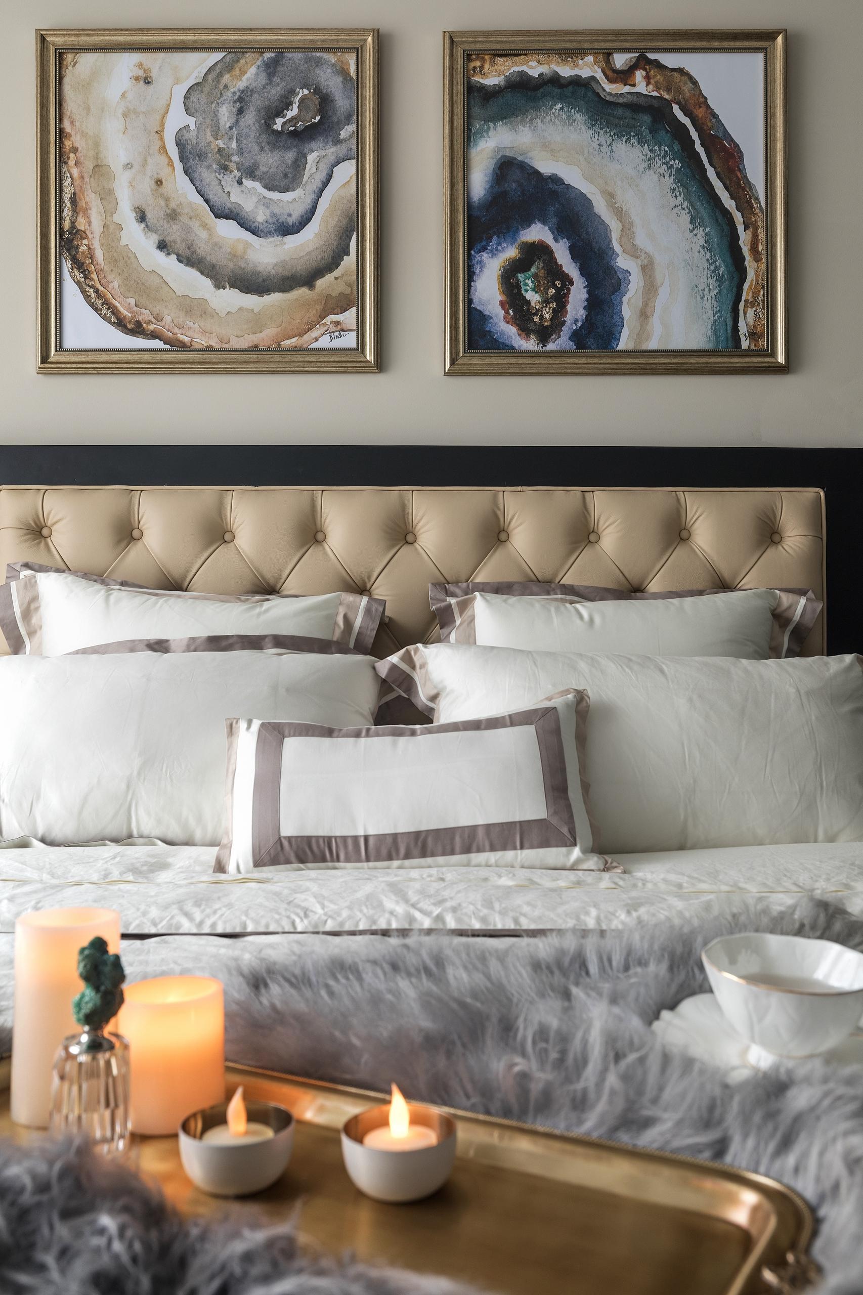 精致122平简欧三居卧室装修装饰图卧室床3图北欧极简卧室设计图片赏析