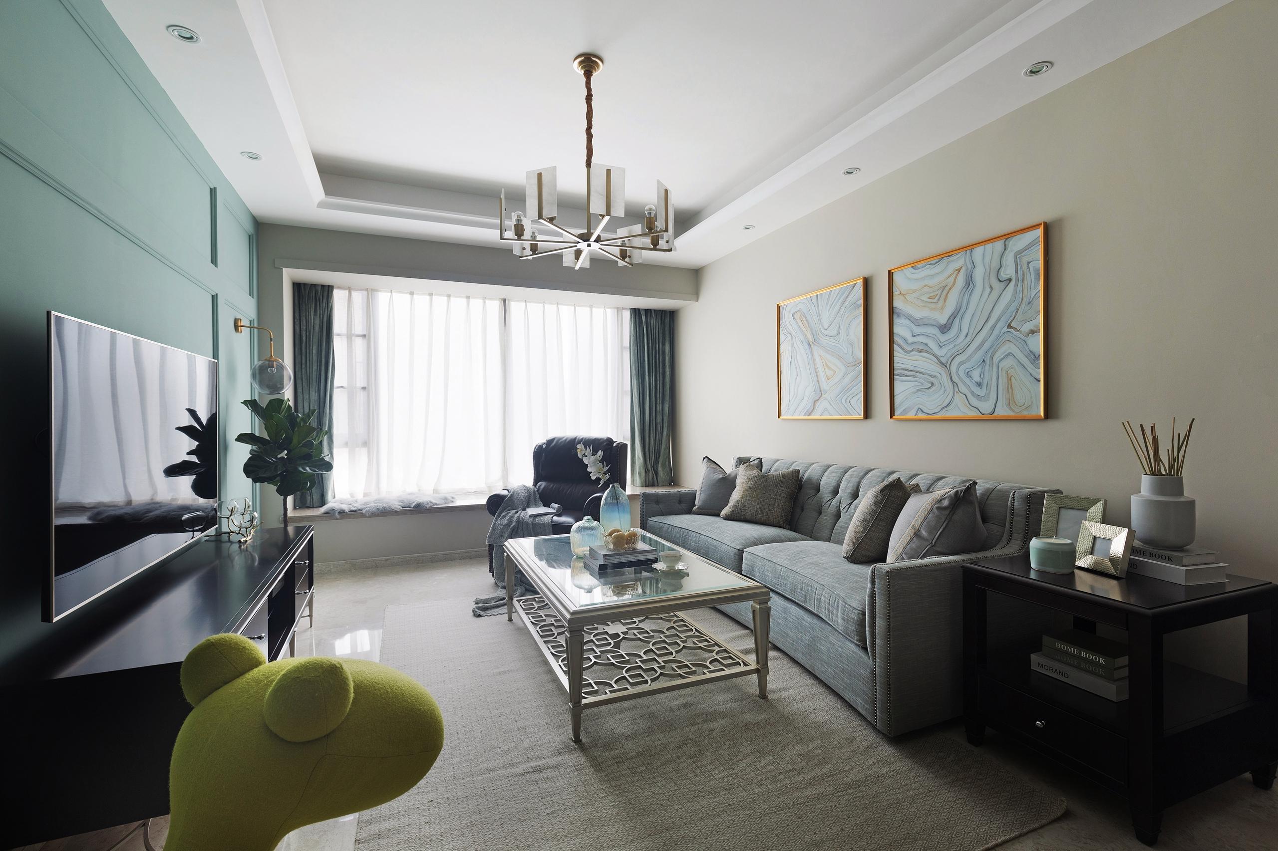 质朴113平简欧三居客厅装修图片客厅窗帘3图北欧极简客厅设计图片赏析