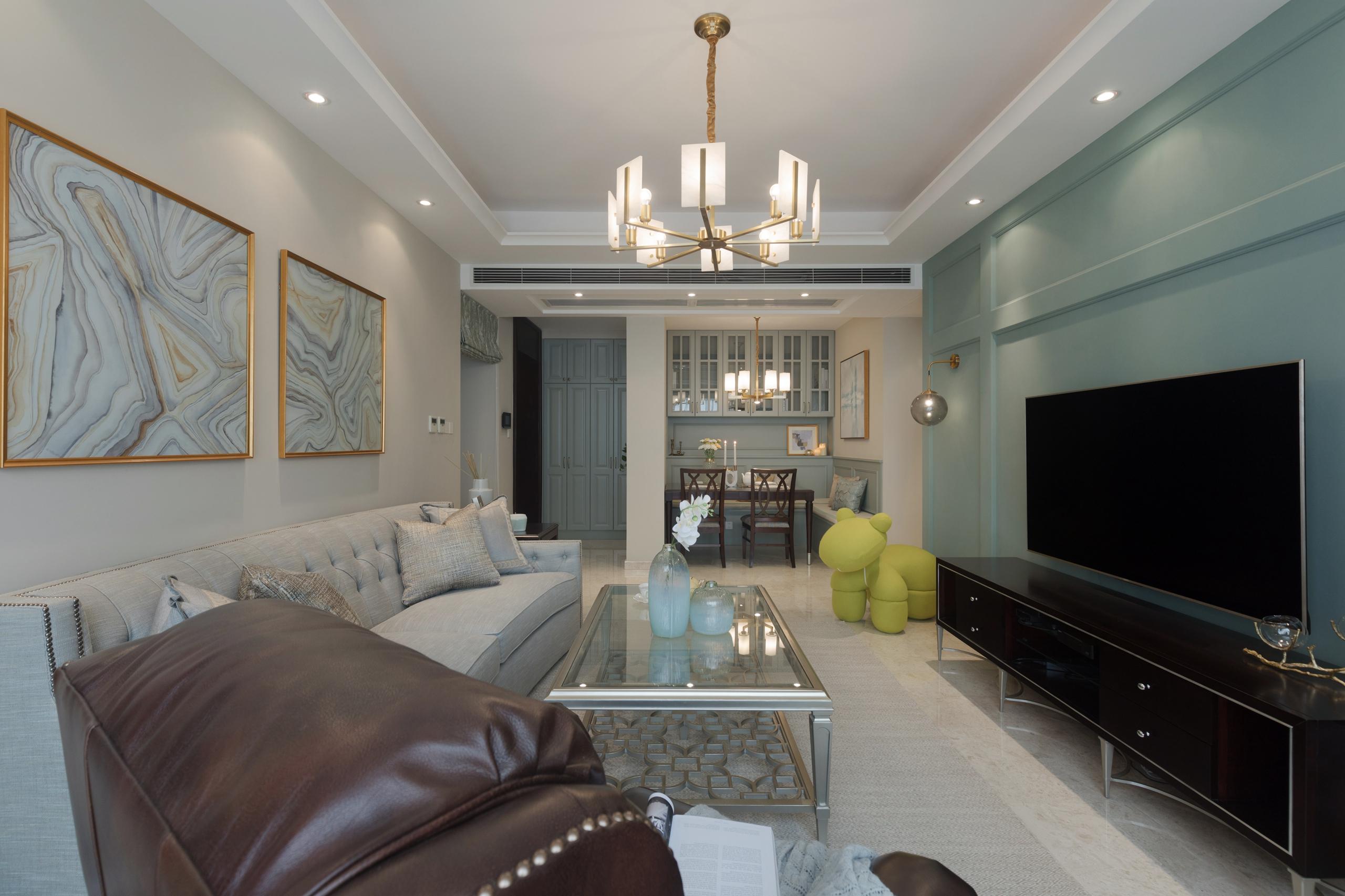 明亮95平简欧三居客厅装修图客厅电视背景墙1图北欧极简客厅设计图片赏析