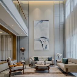 精簡現代別墅客廳裝飾畫圖片