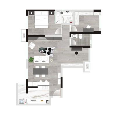拿铁|黑白过渡的空间_3517084