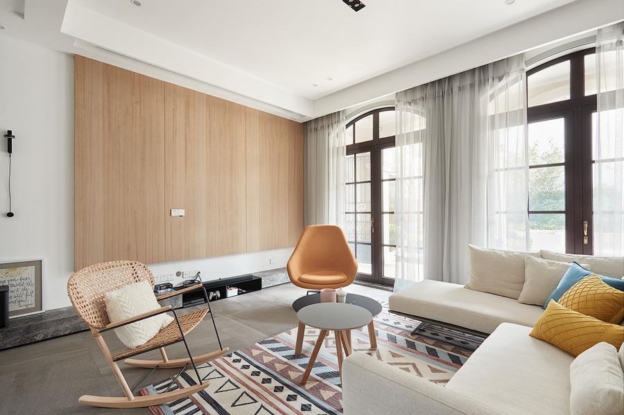 典雅130平简约四居客厅装修案例客厅沙发现代简约客厅设计图片赏析