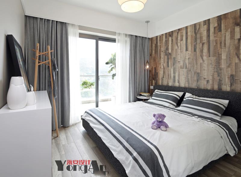 自然北欧主卧室设计图卧室北欧极简卧室设计图片赏析
